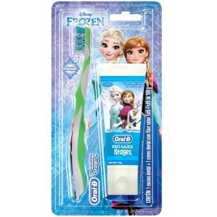 Kit Oral-B Stages Frozen Escova Dental + Creme Dental 100g