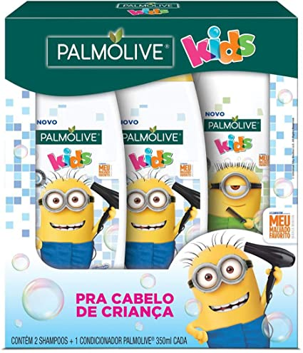Kit Palmolive Kids Minions 2 Shampoos 350ml + 1 Condicionador 350ml c/ Desconto