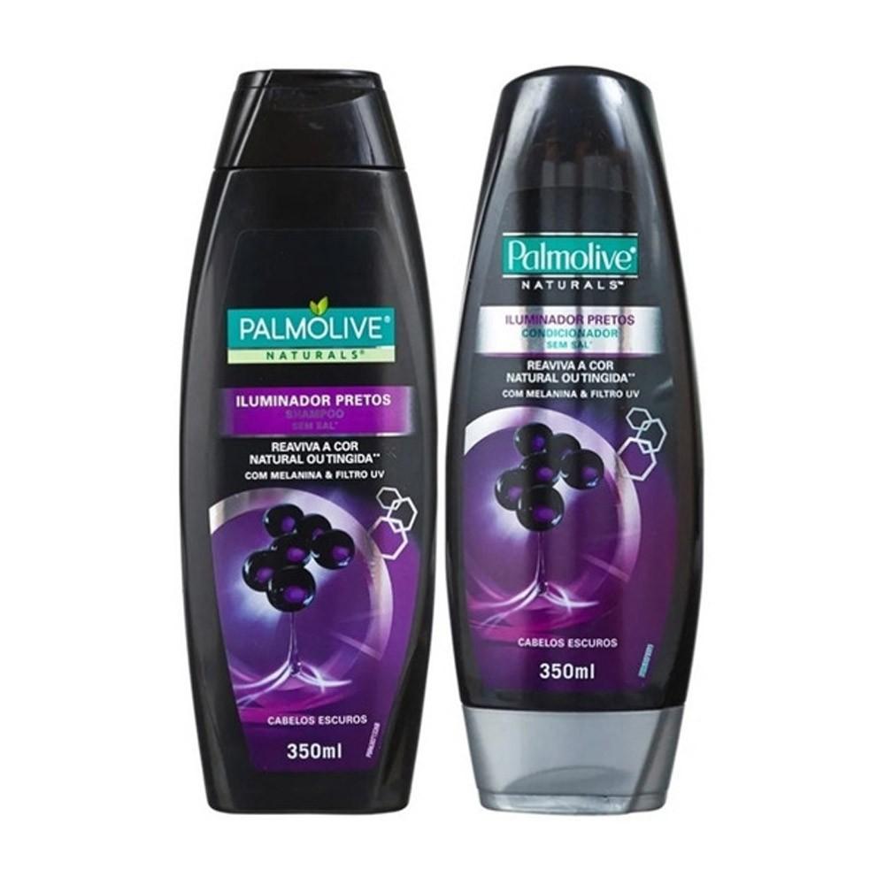 Kit Palmolive Naturals Iluminador Pretos Shampoo 350mL e Condicionador 350mL