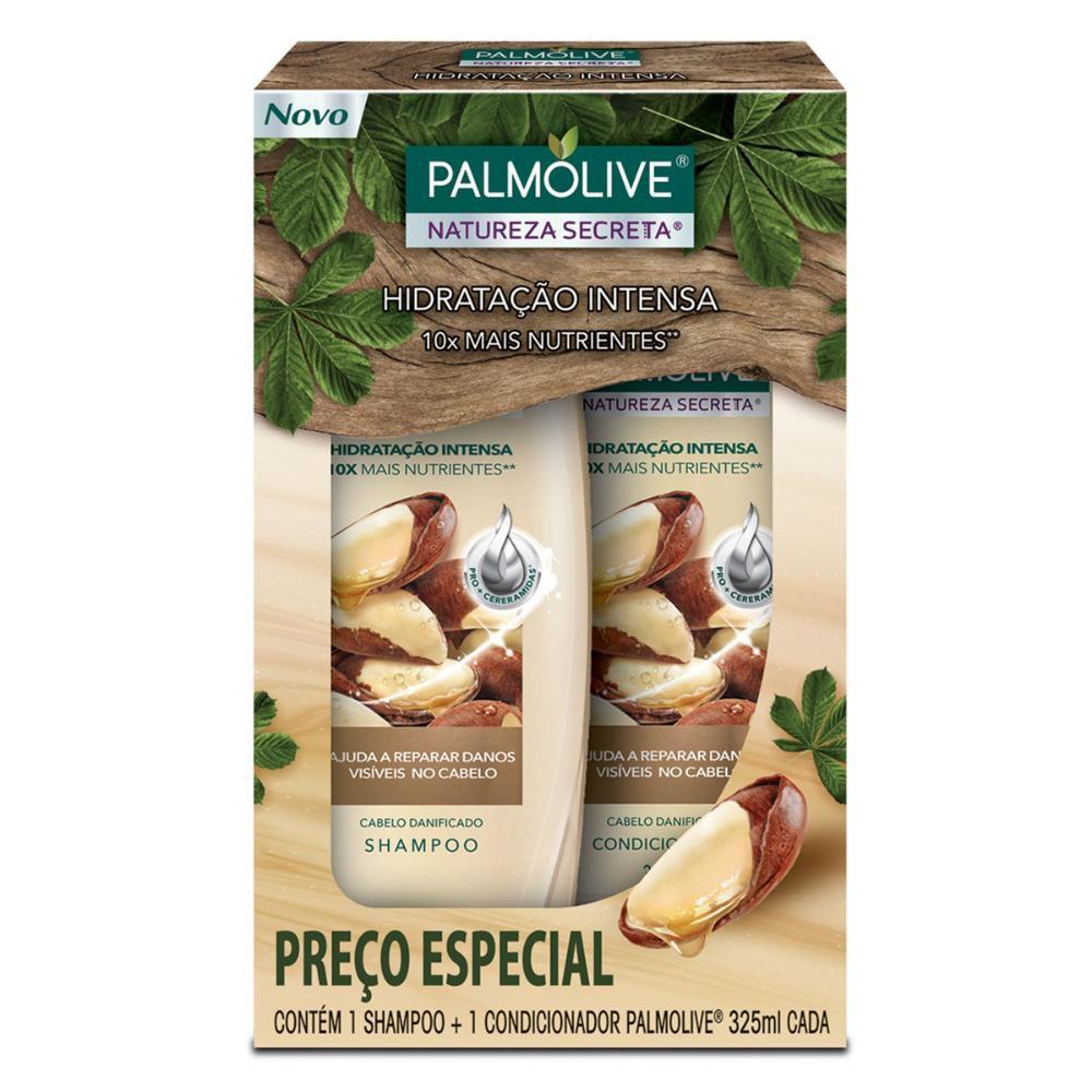 Kit Palmolive Natureza Secreta Castanha 1 Shampoo 325ml + 1 Condicionador 325ml