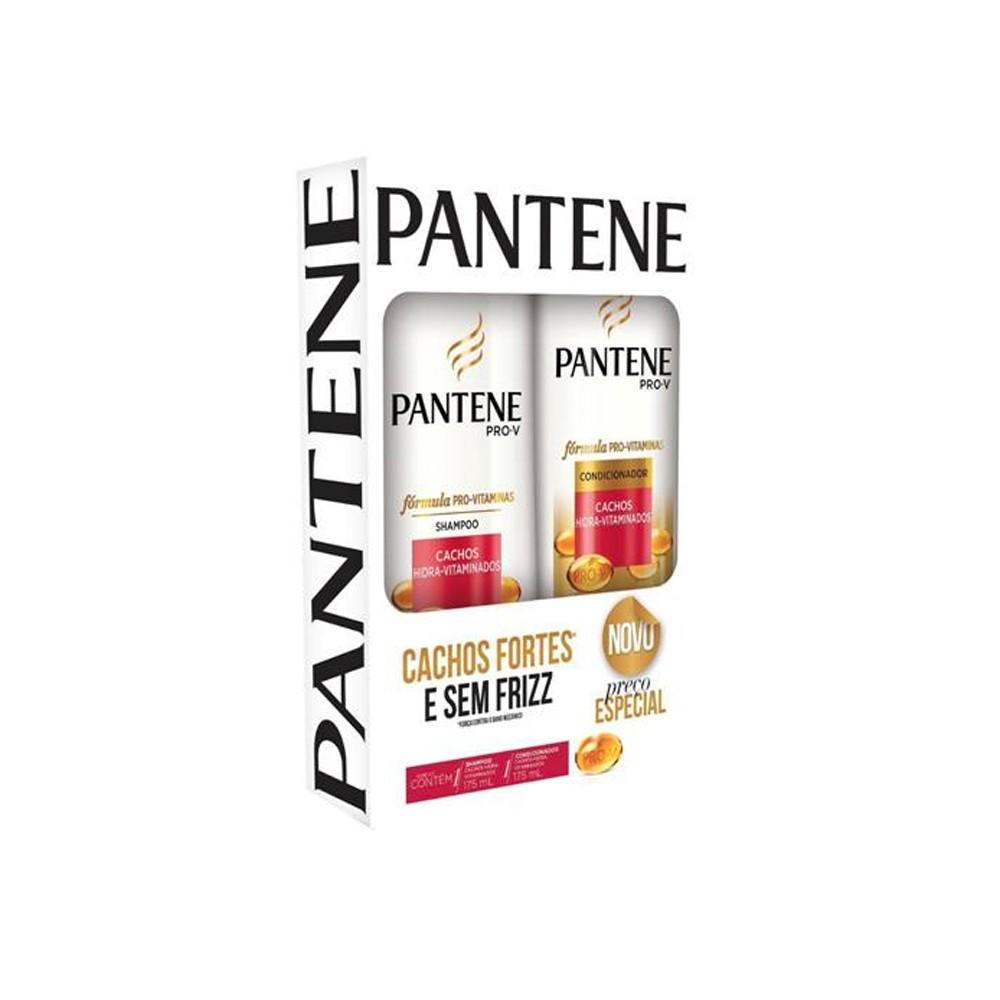 Kit Pantene Shampoo + Condicionador 175ml Cachos Hidra-Vitaminados