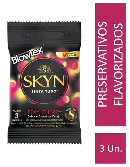 Kit Preservativo SKYN Sexy Cherry c/ 15 Un + Lenços Umedecidos Skyn 40 uni.