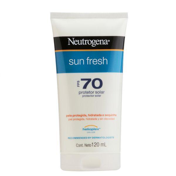 Kit Protetor Solar Neutrogena Sun Fresh Corpo FPS 70 120ml + Facial Neutrogena Sun Fresh FPS 60 50g