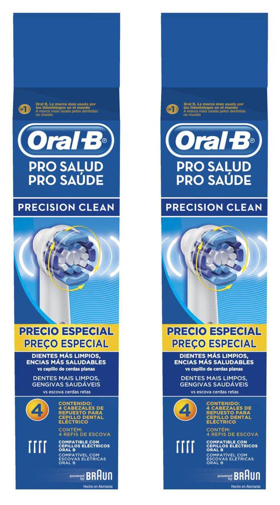 Kit Refil Escova Elétrica Oral-B Precision Clean com 8 unidades