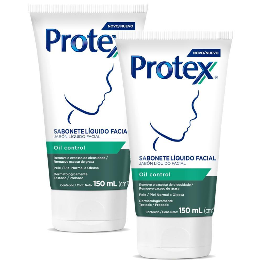 Kit Sabonete Líquido Facial Protex Oil Control 150ml com 2 unidades