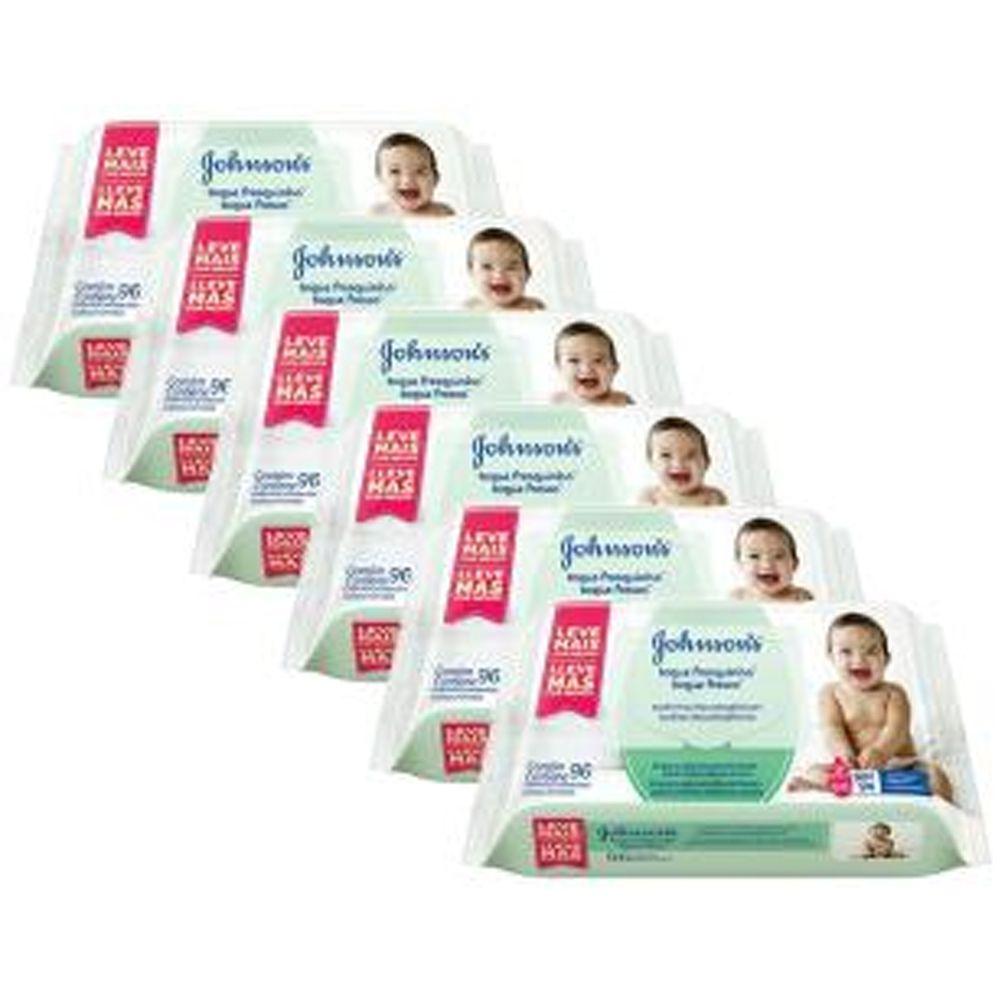 Kit Toalhas Umedecidas Johnsons Baby Toque Fresquinho 6 pacotes com 96 unidades cada