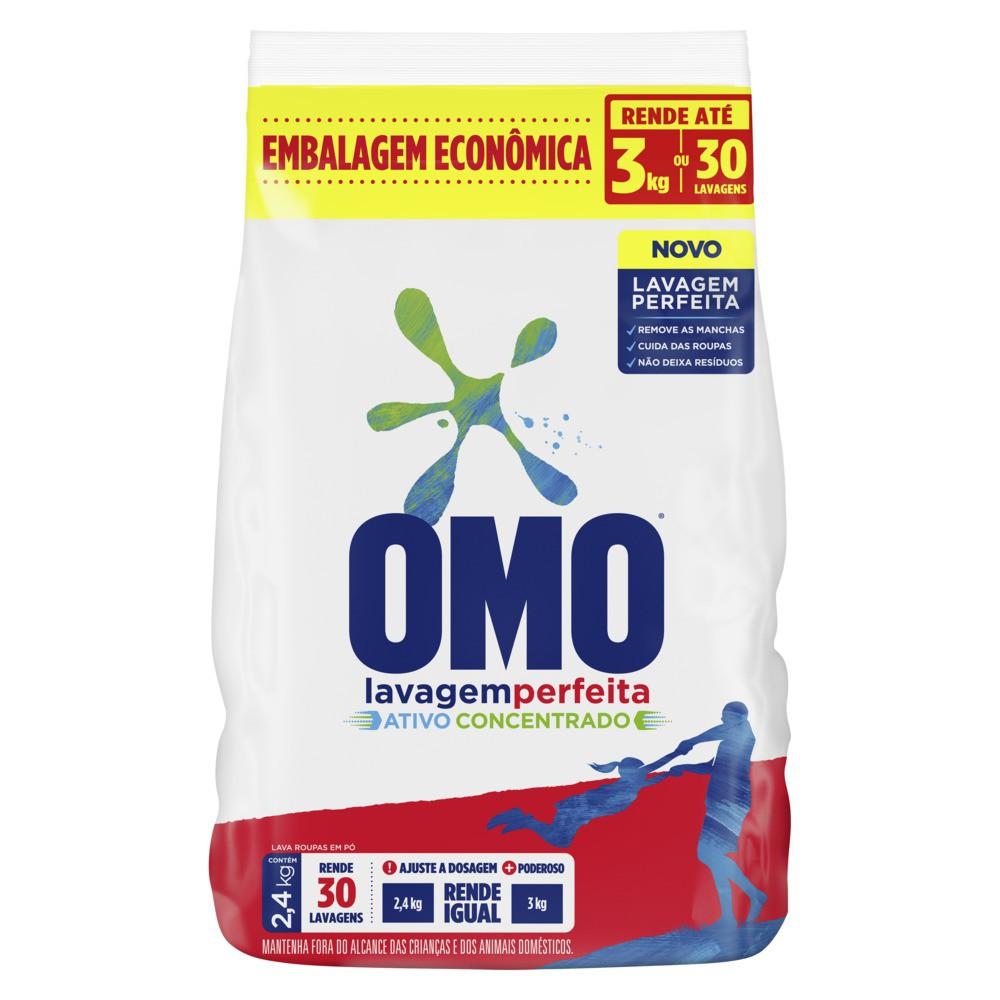 Lava-Roupas em Pó Omo Lavagem Perfeita 2,4kg Embalagem Econômica