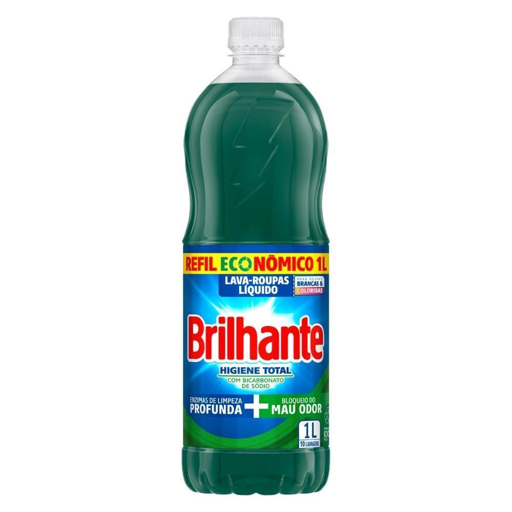 Lava-Roupas Líquido Brilhante Higiene Total 1l