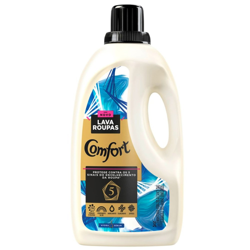Lava-Roupas Líquido Comfort Hydra Sérum 3l