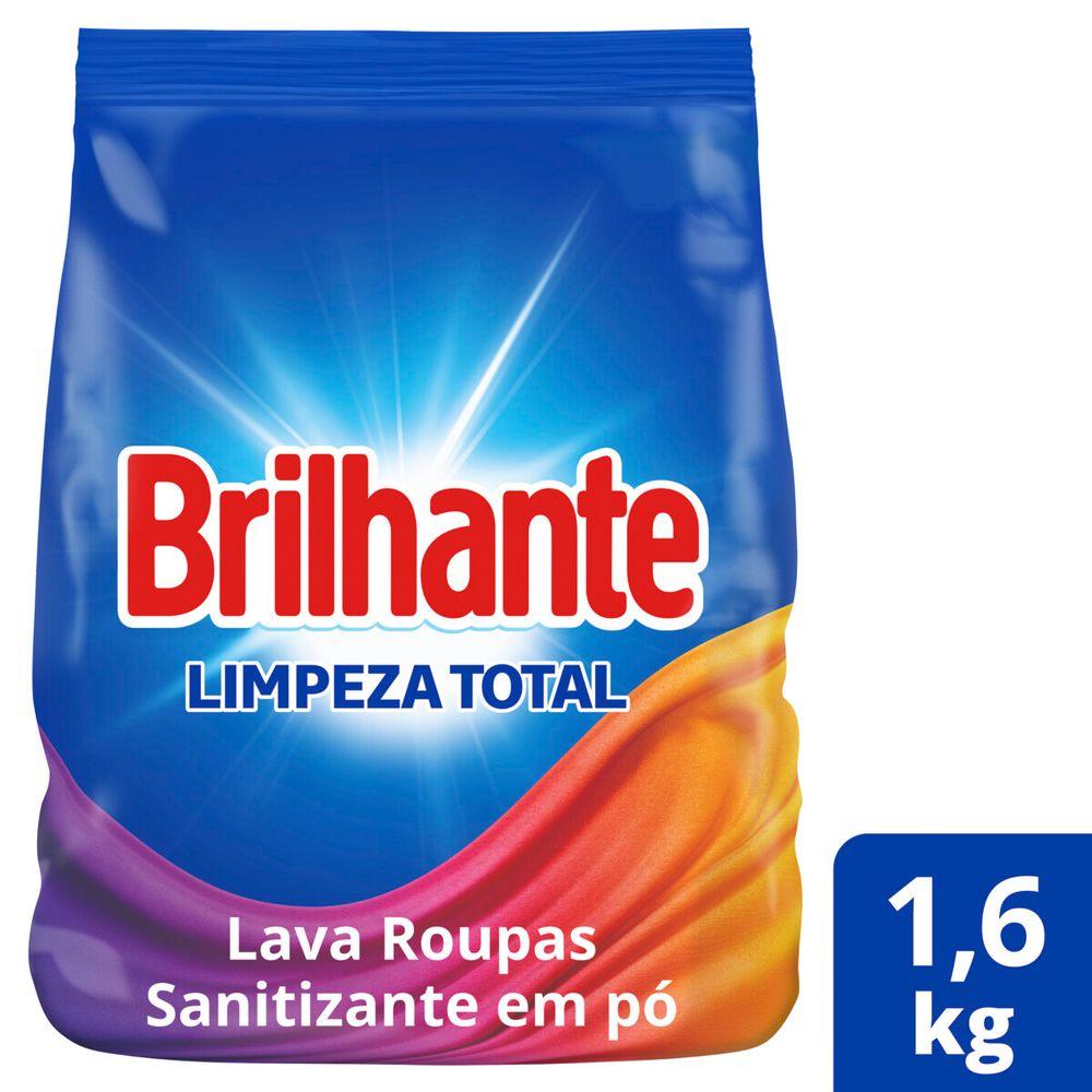 Lava Roupas Sanitizante em Pó Brilhante Limpeza Total Combate germes e bactérias 1.6kg
