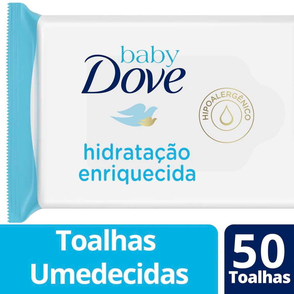 Lenços Umedecidos Baby Dove Hidratação Enriquecida 50 unidades