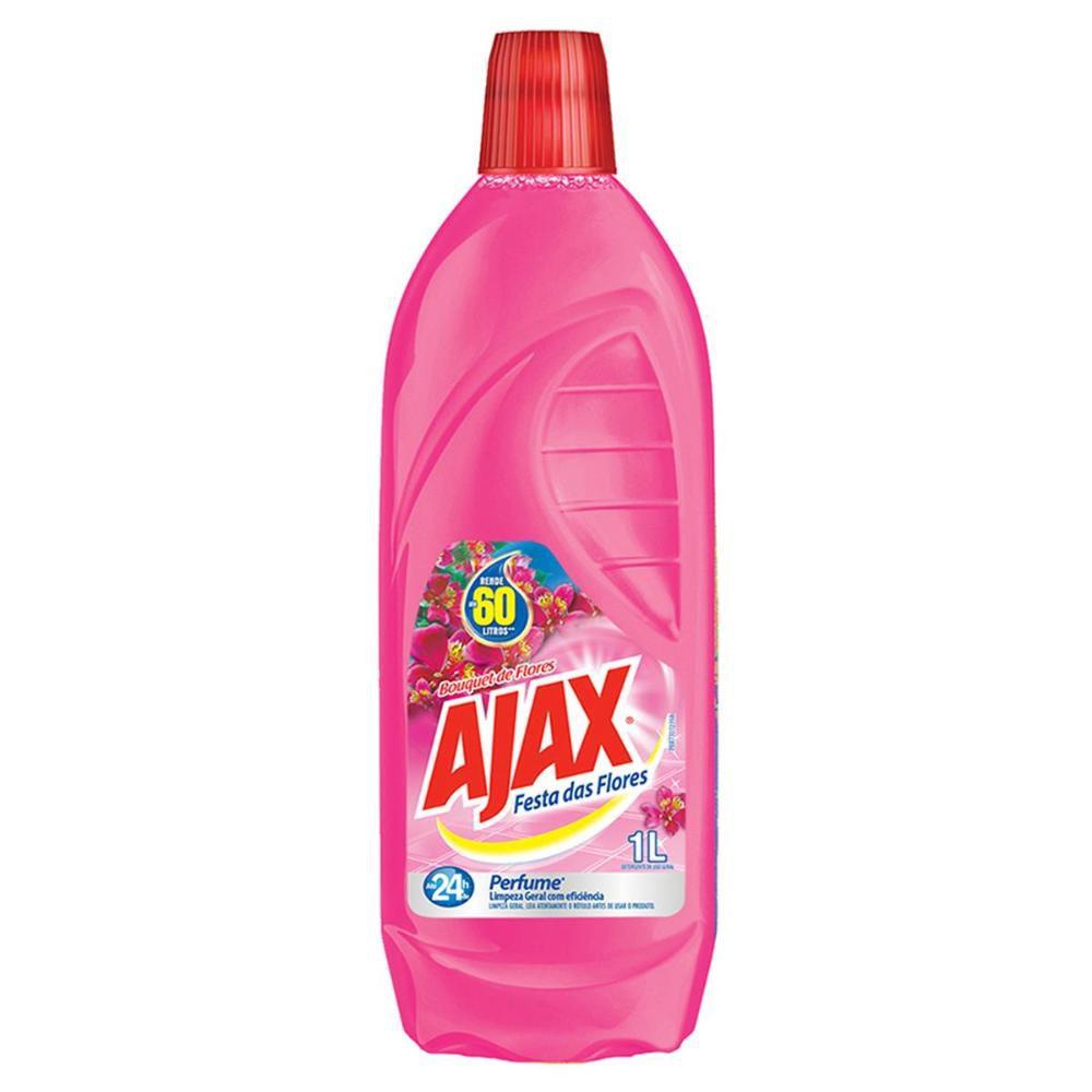 Limpador Diluível Ajax Festa das Flores Bouquet de Flores 1L