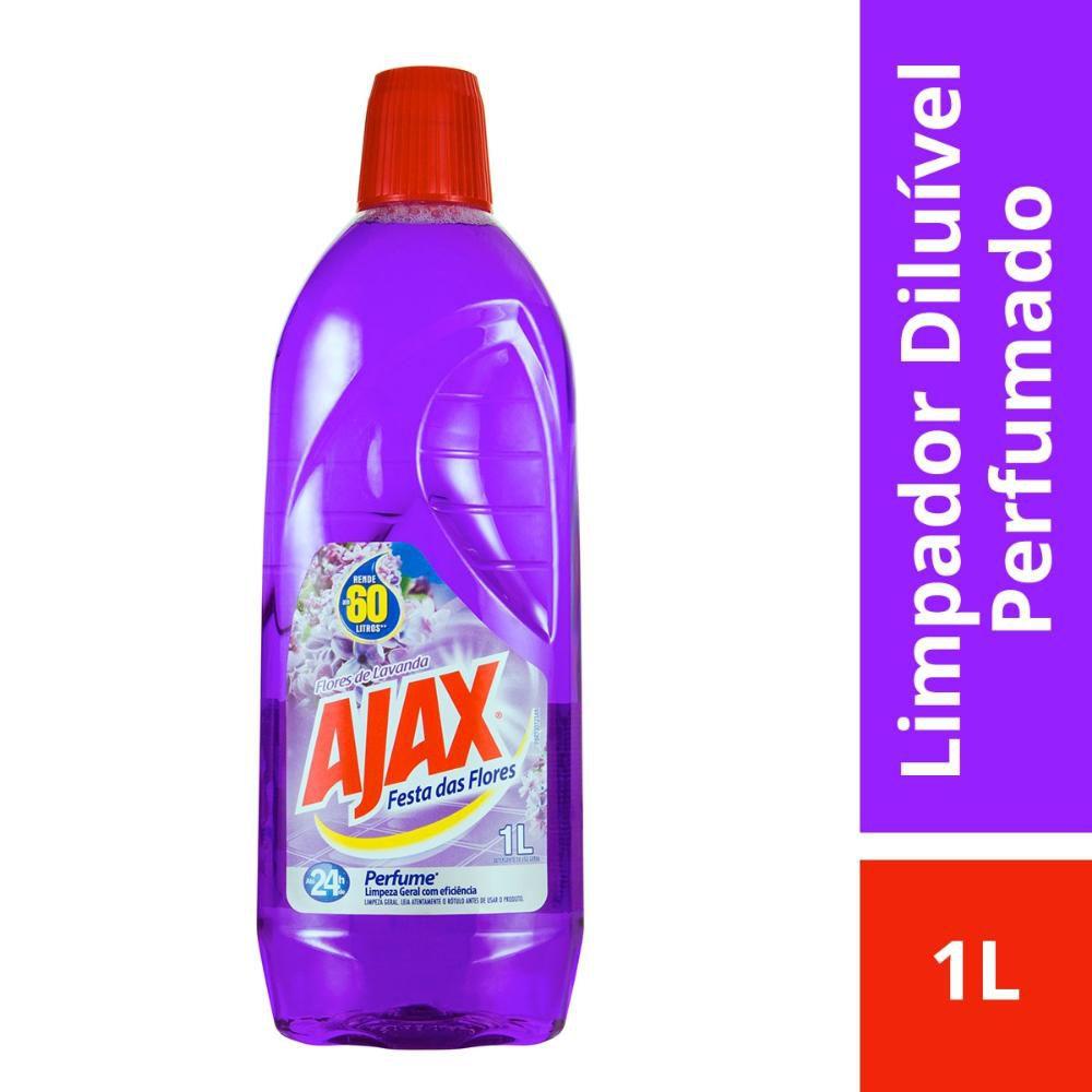 Limpador Diluível Ajax Festa das Flores Lavanda 1L