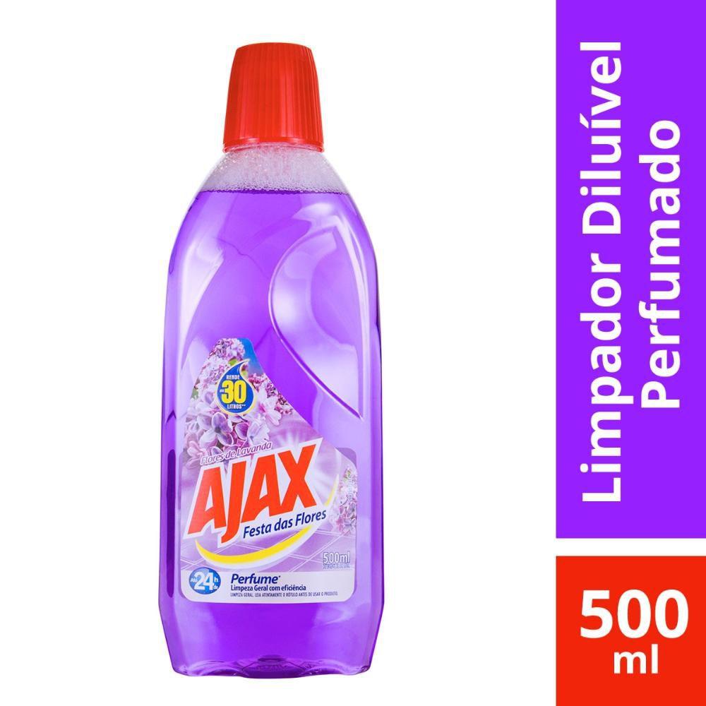 Limpador Diluível Ajax Festa das Flores Lavanda 500mL