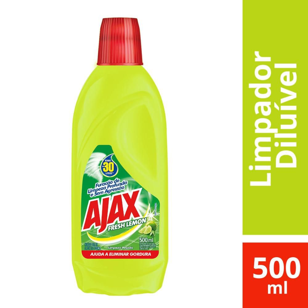 Limpador Diluível Ajax Fresh Lemon 500mL