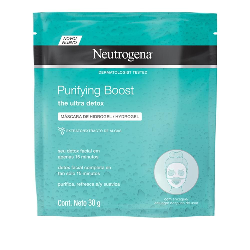 Máscara de Hidrogel Neutrogena Purifying Boost 30mL