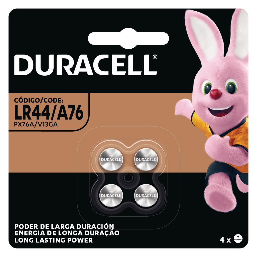 Pilha Duracell Alcalina Moeda LR44/A76 com 4 Unidades
