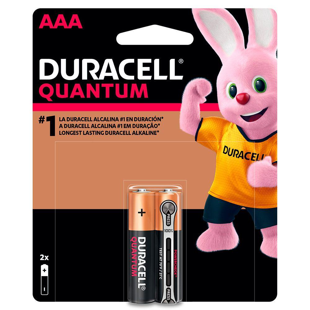 Pilha Duracell Quantum Palito AAA  c/ 2 Unidades