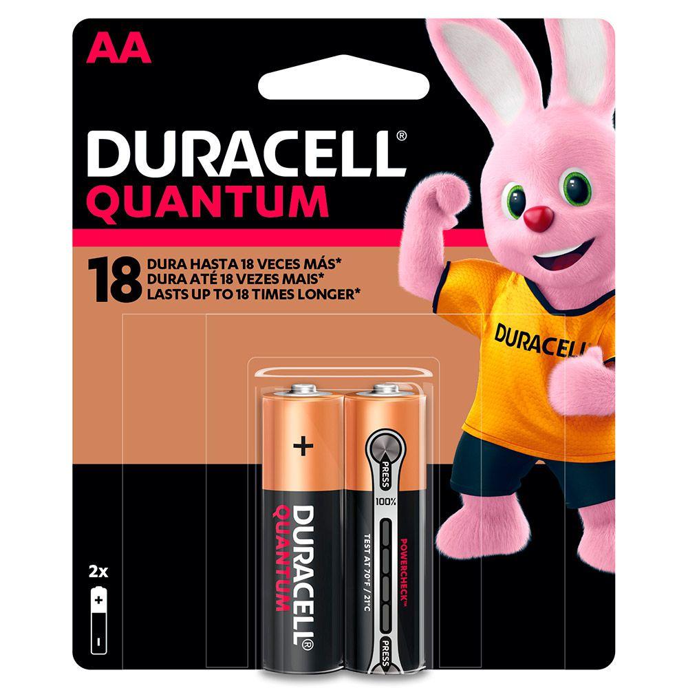 Pilha Duracell Quantum Pequena AA com 2 Unidades