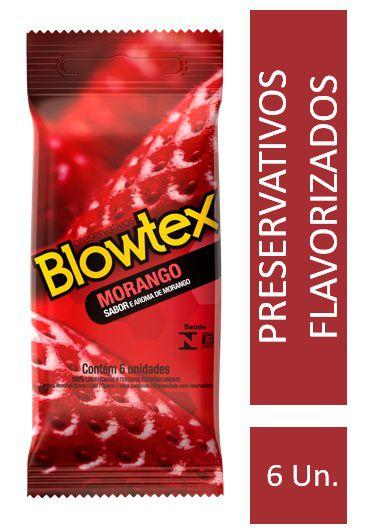 Preservativo Blowtex Morango 6 Unidades