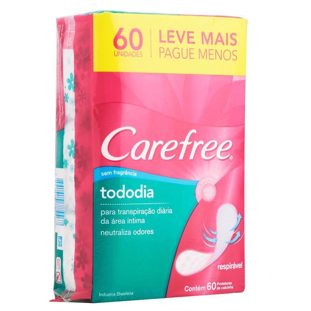 Protetor Diário Carefree Todo Dia sem Perfume Leve 60 Pague 50 Unidades
