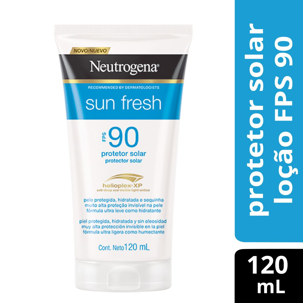 Protetor Solar Neutrogena Sun Fresh Loção FPS 90 120mL