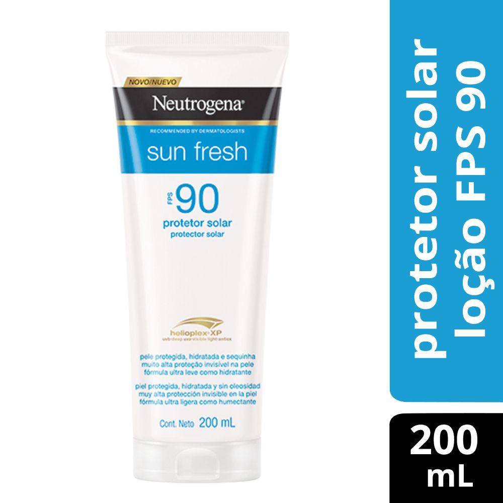 Protetor Solar Neutrogena Sun Fresh Loção FPS 90 200mL