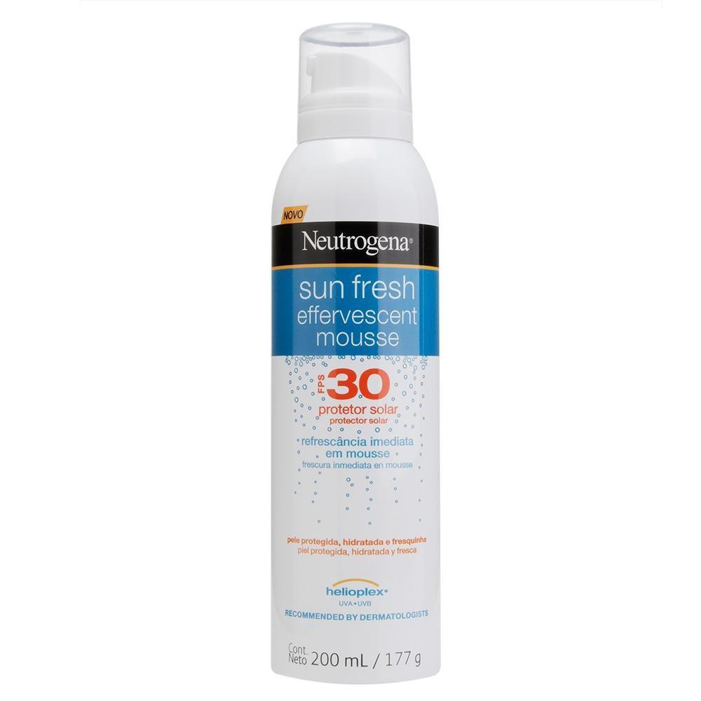 Protetor Solar Neutrogena Sun Fresh Mousse Efervescente FPS 30 200mL