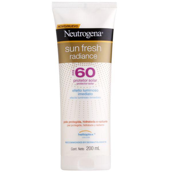 Protetor Solar Neutrogena Sun Fresh Radiance FPS 60 200mL
