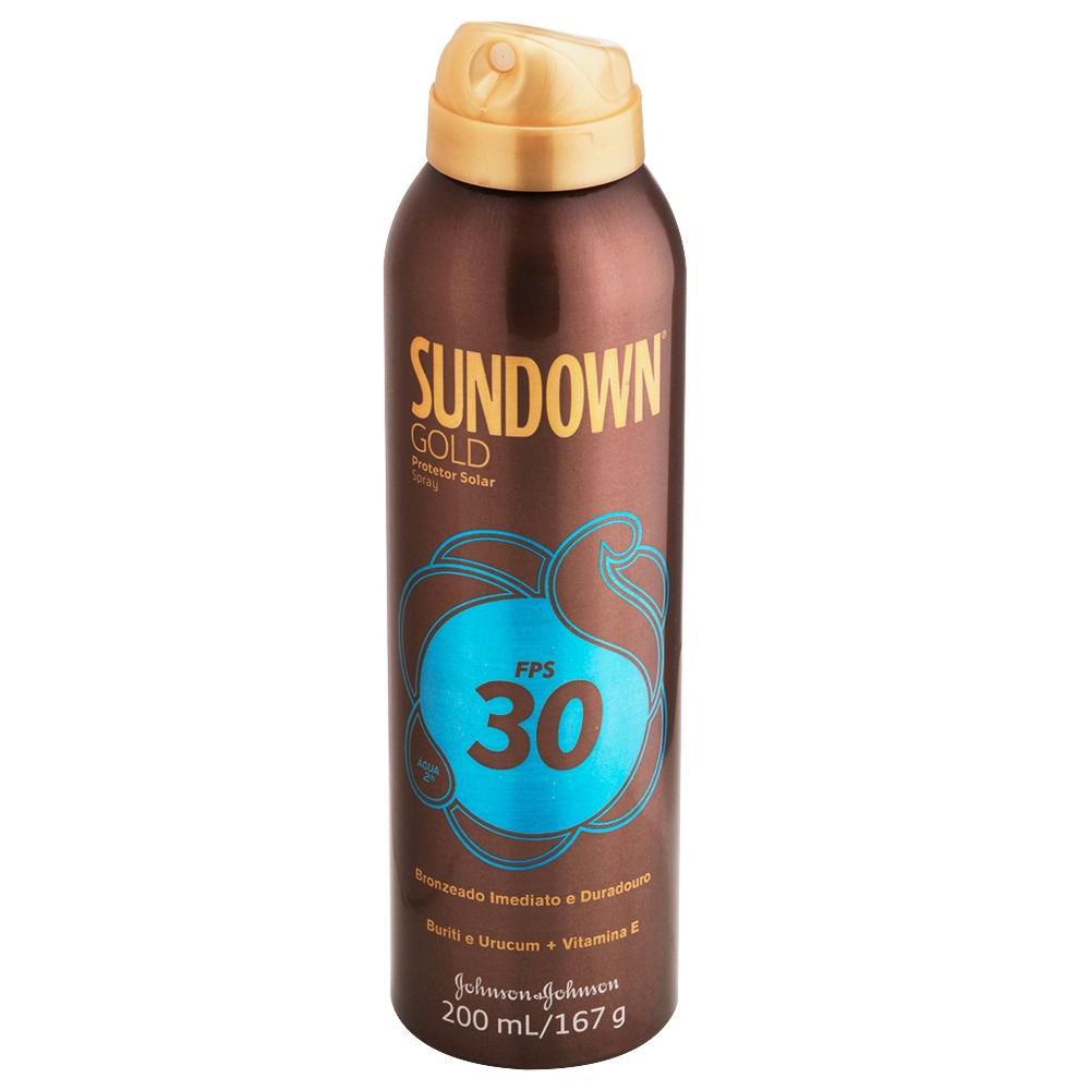 Protetor Solar Sundown Gold FPS 30 Spray 200mL