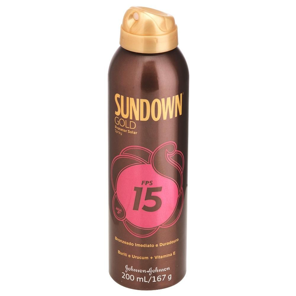 Protetor Solar Sundown Gold Spray FPS 15 200mL