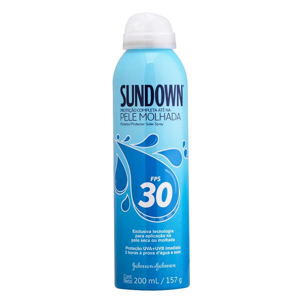Protetor Solar Sundown Pele Molhada Spray FPS 30 Spray 200ml