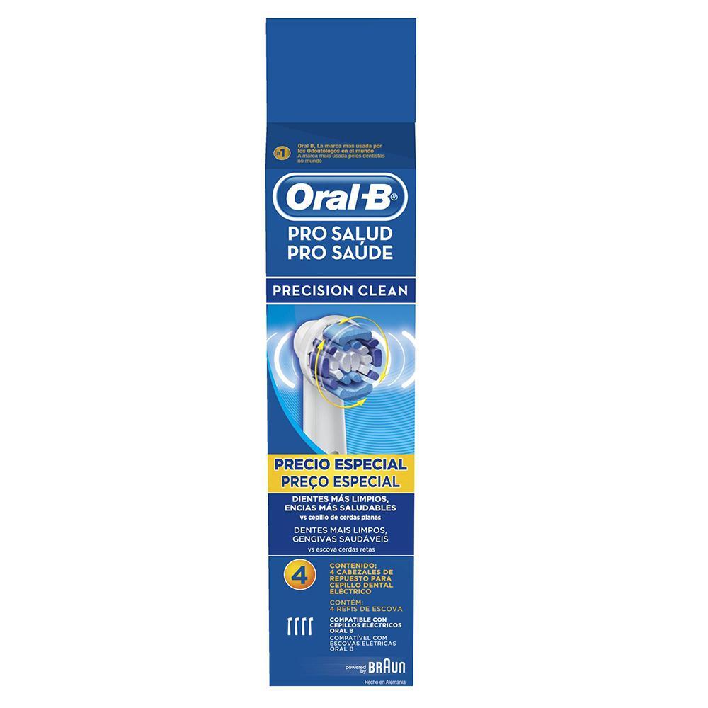 Refil Escova Elétrica Oral-B Precision Clean - 4 unidades