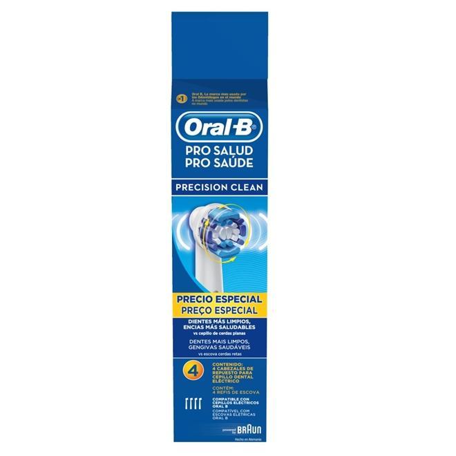 Refil Escova Elétrica Oral-B Precision Clean com 4 unidades