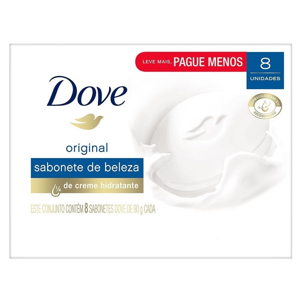 Sabonete Barra Dove Original 90g c/ 8 unidades