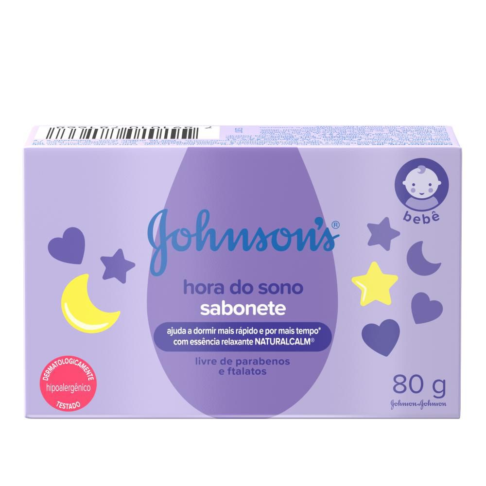 Sabonete Barra Johnson's Hora do Sono 80g