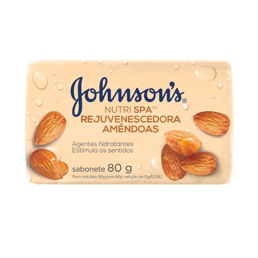 Sabonete Barra Johnson's Nutri SPA Rejuvenescedora Amêndoas 80g