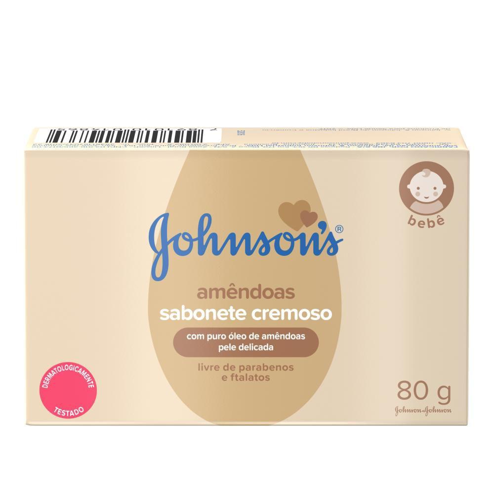 Sabonete Barra Johnson's Óleo de Amêndoas 80g