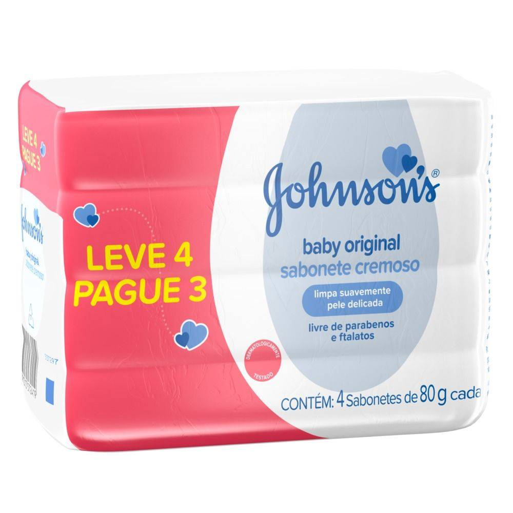 Sabonete Barra Johnson's Regular 80g Leve 4 Pague 3