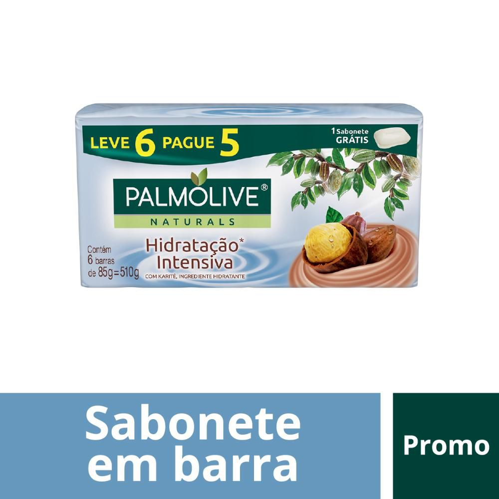 Sabonete em Barra Palmolive Naturals Hidratação Intensiva 85g  Leve 6 Pague 5