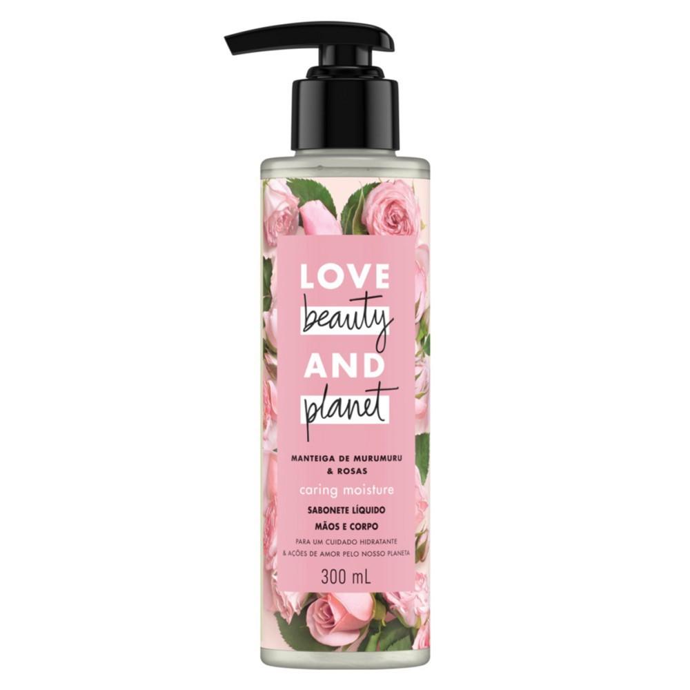 Sabonete Líquido Love Beauty & Planet Caring Moisture Mãos e Corpo 300ml