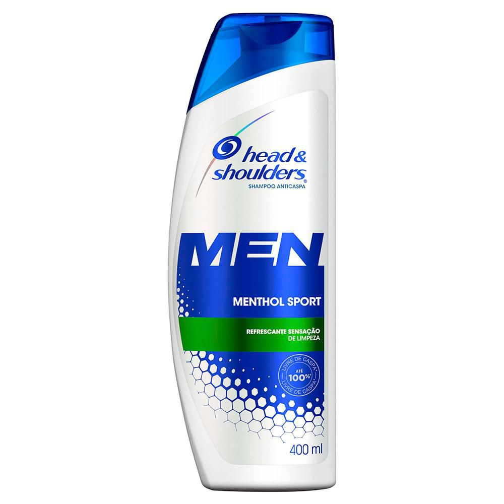 Shampoo Head & Shoulders Anticaspa Menthol Sport Masculino 400mL