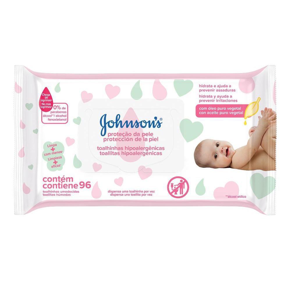 Johnson's Baby Toalhinhas Extra Cuidado c/ 96