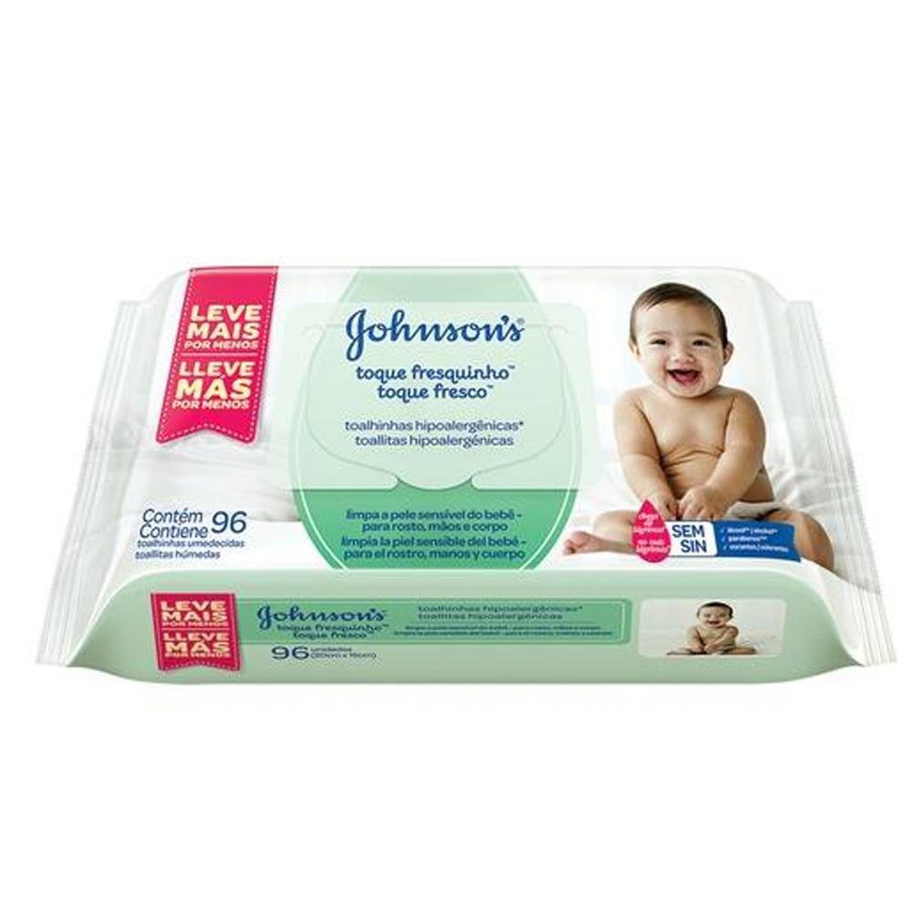 Johnson's Baby Toalhinhas Toque Fresquinho c/ 96