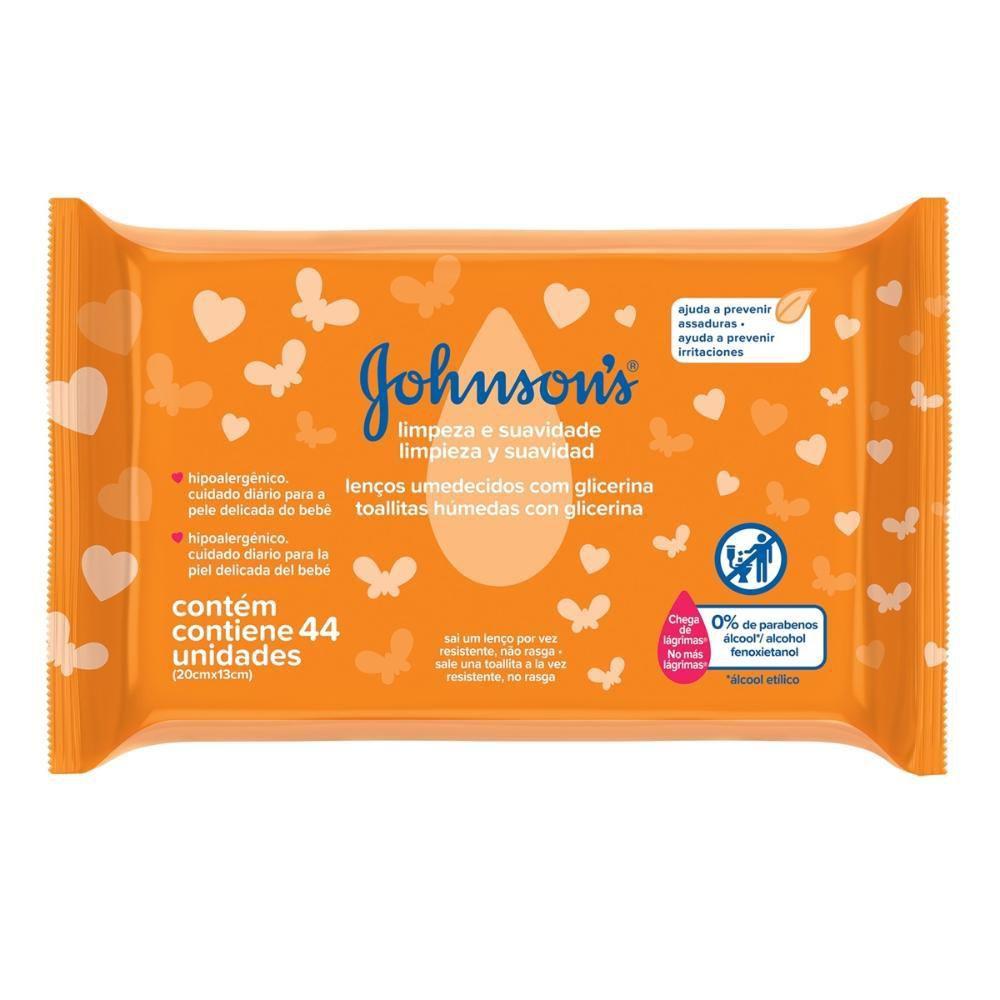 Toalhinhas Johnson's Limpeza e Suavidade c/ 44 Unidades