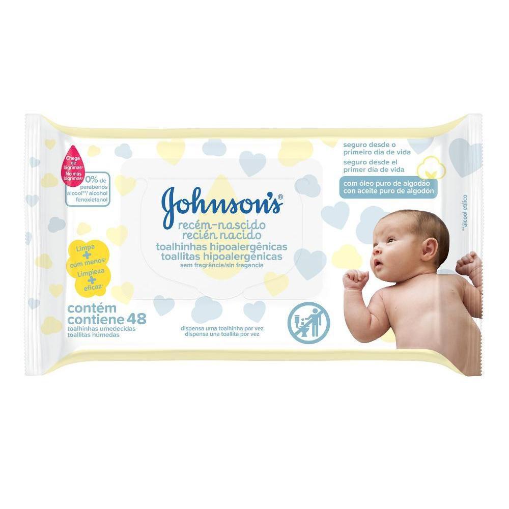 Toalhinhas Johnson's Recém-Nascido c/ 48 Unidades