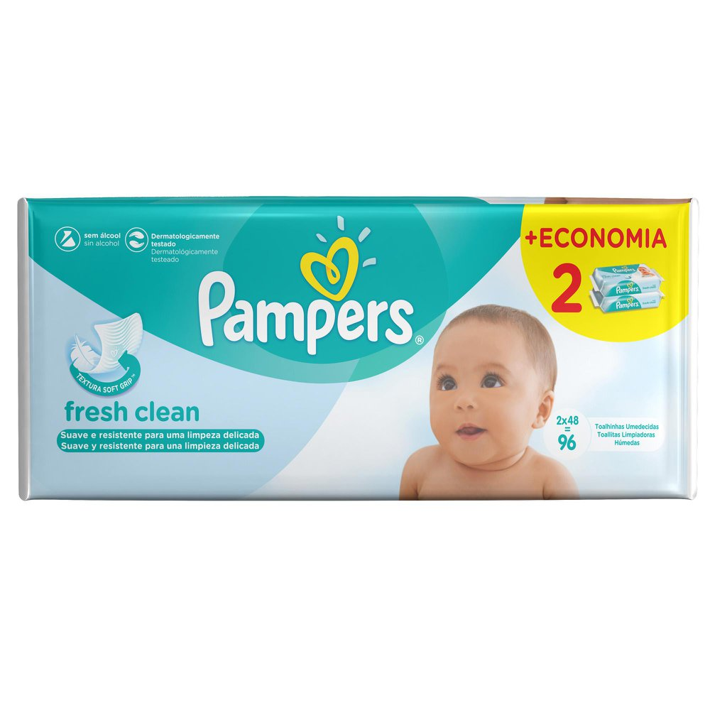 Toalhinhas Umedecidas Pampers Fresh Clean c/ 96