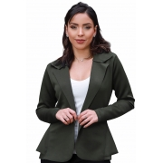 Blazer Casaquinho Neoprene Feminino Terninho Verde Militar