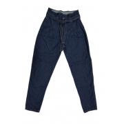 Calça Jeans Escuro Feminina Mom Baggy