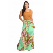 Calça Feminina Pantalona de Viscose Floral
